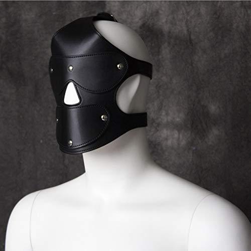 nen Spaß Spielzeug Leder Kopfbedeckungen Augenbinden Augenmaske Gesichtsmaske Bühnenkostüme Alternativspielzeug Paare Flirtwerkzeuge Schwarz Rot Optional Jeans (Color : Black) ()