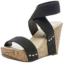 c34165cbae2 Luckycat Sandalias De Mujer, Verano CuñAs Flor Zapatillas Plataforma  Impermeable Mujeres Sandalias CuñA Sandalias Zapatillas