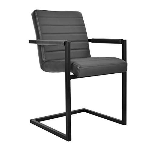 Feel Furniture -Conference Stuhl - Grau - Schlankem Industriedesign mit Hochwertigen Materialien:...