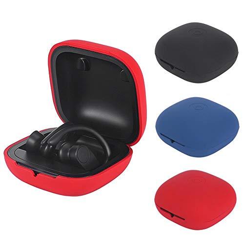yummyfood Silikon Kopfhörer Fall Für Powerbeats Pro Bluetooth Kopfhörer, Earphones Etui Case Cover Hülle, Stoßfest, Wasserdicht, Schwarz/Blau/Rot Kopfhörer-fall