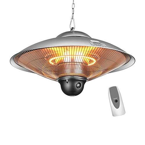TUNBG Heizung Heizung Lampe Deckenheizung Infrarot Heizung Heizelement Carbon 2 Stufen: 1200W / 2200W Beleuchtungsdurchmesser: 58 cm IPx24 Silber