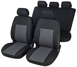 RMG r16V299Housses pour Ignis Housses voiture noirs gris compatibles avec sièges dotés d'airbag braciolo et sièges arrières séparables
