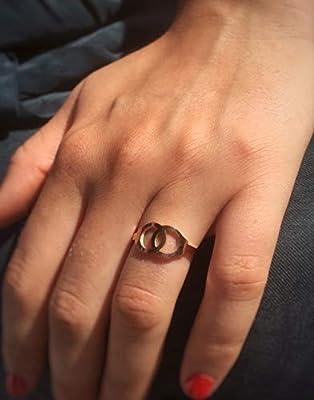 Bague menottes - Bague double cercle - deux cercles Symbole d'union d'amitié