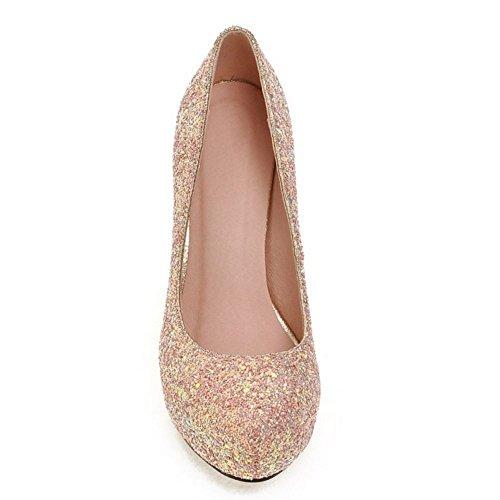 Aiguille Slip Bout Rose Femmes Talon On COOLCEPT Mode Chaussures Escarpins Shiny Briller Ferme wqXEBaZ