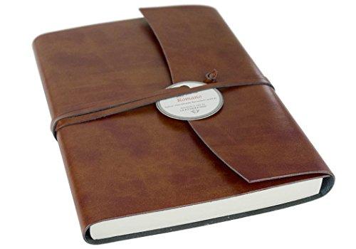Romano Recyceltes Leder Notizbuch Haselnussbraun, A5 Liniert Seiten - Handgefertigt in Italien von LEATHERKIND