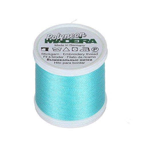 MADEIRA 9845-- 16452-lagig Polyneon Polyester Stickgarn, 40wt/135D 440YD, Light Teal -