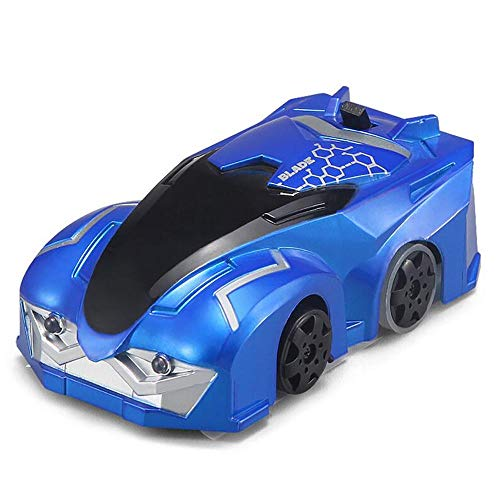 k Mini-Stunt-Kletterauto Ferngesteuerte Autos/Dual-Modus/Coole Autolichter/super Starke Adsorption / 360 ° -Drehung/Drift/Wall Driving/Kinder-Lieblingsspielzeug,Blue ()