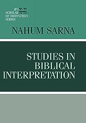 Studies in Biblical Interpretation (A JPS Scholar of Distinction Book)
