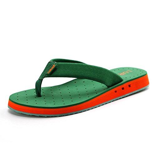 ALUK- Sommer Sandalen - Casual Anti-Rutsch Männer bequeme Verschleiß-resistenten Hausschuhe Strand Schuhe ( Farbe : Grün , größe : 43 ) Grün
