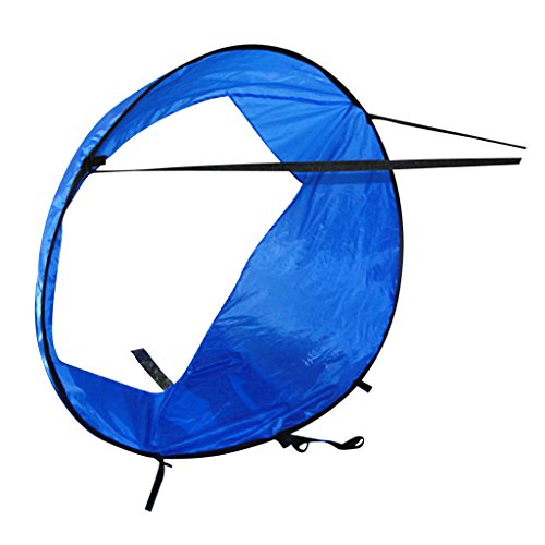 Sharplace Vela de Viento con Ventana Clara Kayak Wind Sail - Azul