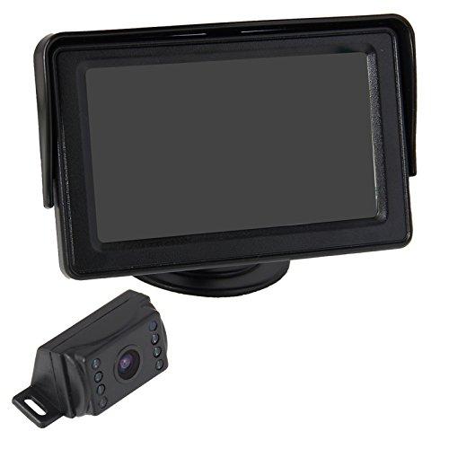 Phansthy Rückfahrkamera Auto Rückansicht mit Nachtsicht 8 LED Wasserdicht Rückfahrsystem + 4.3