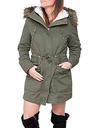 ee658b60f4a8f4 Amazon.it: parka donna invernale con pelliccia - Giacche / Giacche e ...