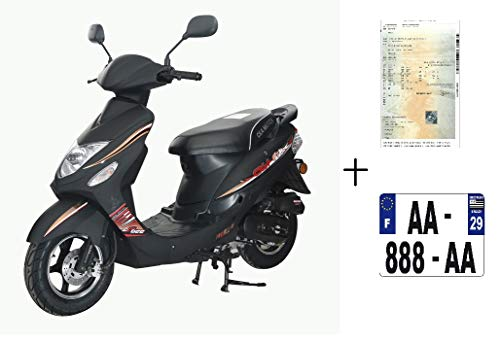 EUROCKA Scooter GTR-B Noir +immatriculatio