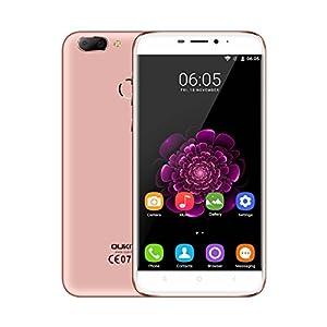 OUKITEL U20 Plus 5.5 inch IPS HD Screen 4G Android 6.0 Smartphone MT6737 Octa Core 2G RAM+16G ROM 13.0MP+0.3MP Dual Rear Camera Dual SIM Mobile Phone Fingerprint Gesture Motion Cellphone (Rose Gold)