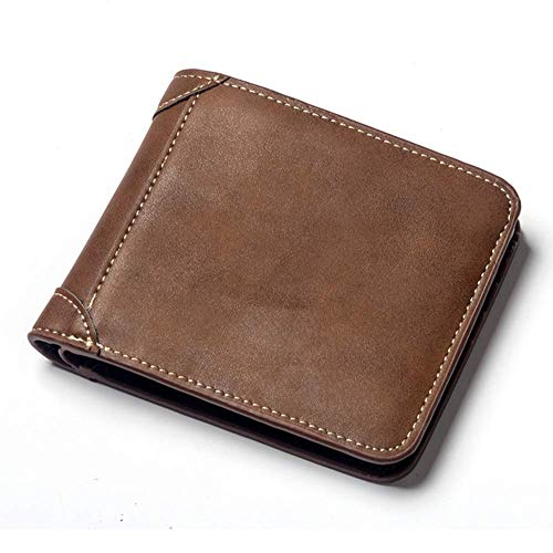 WFXZT Wallet Multi-Card Kurzarm-Herrenjeans Cross-Section Scrub Leather Vintage Wallet -