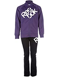 Reebok Infant Girls Tricot Tracksuit In Purple-Jacket:-Pockets To Sides-Zip
