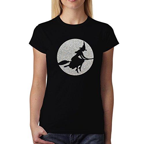Hexe Magischer Mond Damen T-shirt XS-2XL Neu Schwarz