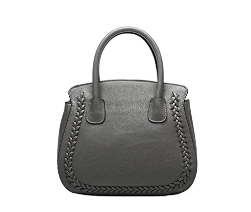 PACK Europa E La Moda Degli Stati Uniti Fashion Lychee Pattern Platinum Bag Spalla Portatile Diagonal Leather,D:Gray D:Gray