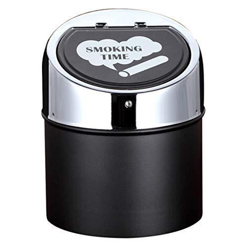 CO-Z Cendrier Cendrier avec Pied et une Cigarettes Stand Standing Ashtray fumeurs Cendrier Colonne de Cigarettes Cendrier pour lext/érieur Moderne Stable 61 cm Noir