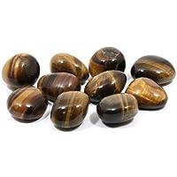 GeoFossils Tiger Eye Tumble Stones (20-25mm) Single Stone