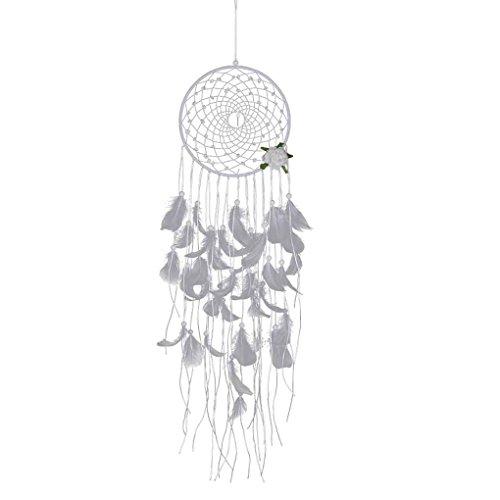 Masterein Spitze Blumentraumfänger Wind Chimes Feder Anhänger Traumfänger Start Ornament Craft Wand Hängende Dekoration (Craft Perlen Ornament)