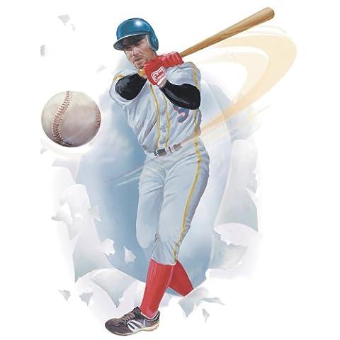 Blue Mountain Wallcoverings 852182 Baseball Player Peel & Stick Appliqu by Blue Mountain Wallcoverings