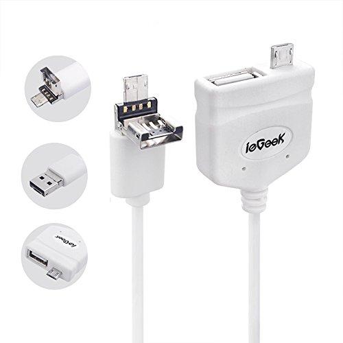 ieGeek USB Cable del PVC de Carga y de Datos con Múltiples Funciones, Blanco