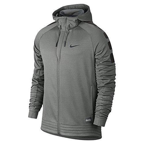 Nike Elite Stripe Hoody-Felpa da uomo caduto grigio / profondo peltro / nero