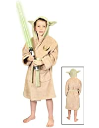 Groovy Uk Kids Star Wars Yoda Bathrobe Large (8-10yrs)