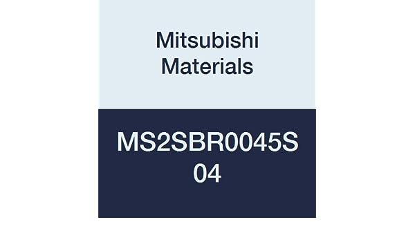 Short Flute 0.45 mm Corner Radius Mitsubishi Materials MS2SBR0045S04 Series MS2SB Carbide Mstar Ball Nose End Mill 2 Flutes 0.9 mm Cutting Dia 4 mm Shank Diameter