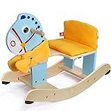 Schaukelpferd Kinder schaukelpferd Holz Pferd Geburtstagsgeschenk Baby kleine Holz Pferd holzspielzeug 65 * 29,5 * 46 cm FANJIANI (Farbe : Blau)