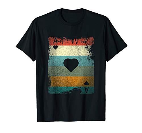 Vintage Ass Of Hearts T-Shirt Poker Player Shirt Geschenk -