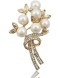 460972694d74 Perla Broches del Rhinestone De Las Mujeres Broche De La Flor De La Boda La  Novia