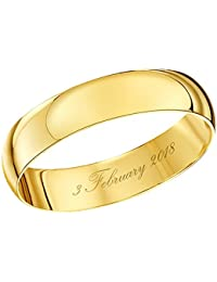 2112e1350f25 Amazon.co.uk  Plain Band - Rings   Men  Jewellery
