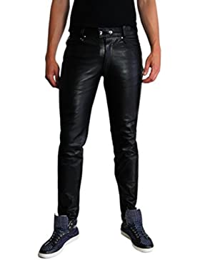Lederjeans Lederhose Lederröhre Tight Leather Jeans Bockle® 1991 Röhre