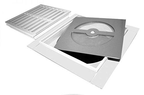 Geruchsverschluss für Bodenablauf Größe 90 x 90 mm Superflach nur 3 mm Einbautiefe mit horizontaler Membran