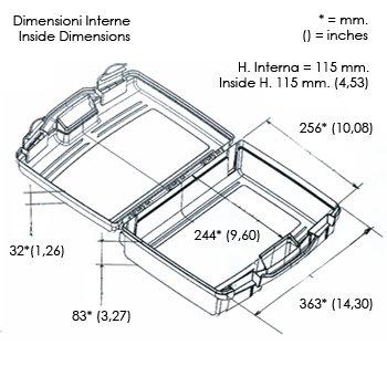 Kunststoffkoffer leer in transparent, Außenmaß: 370x307x121 mm - 3