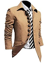 VOBAGA Mens Casual Fashion Slim Fit Suit Blazer Coat