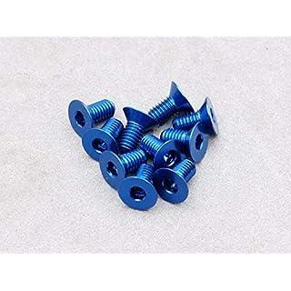 Integy RC Model Hop-ups OBM-AC-030-ASCDB 3 x 6mm Machine Type 7075-T6 Countersunk Hex Screw (Dark Blue 10 Pcs)