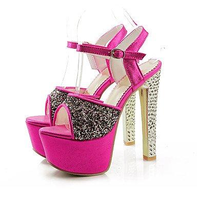 Moda Donna Sandali Sexy donna estate tacchi piattaforma / cinturino alla caviglia PU Office & Carriera / Party & sera abito / Stiletto Heel scintillanti Glitter / BuckleRed / Gold