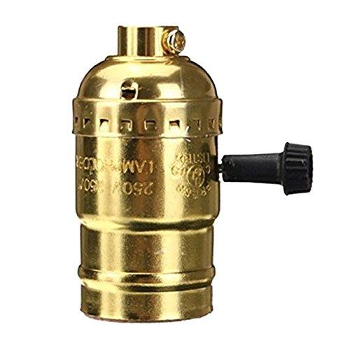 Rokoo Weinlese-Edison-Lampen-Halter-Anhänger-Licht E27 Fassung UL / 110V / 220V Lamp Base Glanz 1.2m Linie -