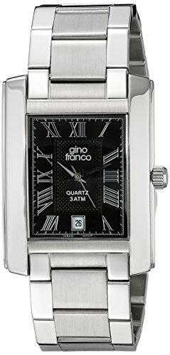 gino Franco Men's 925CH Stainless Steel Bracelet Watch
