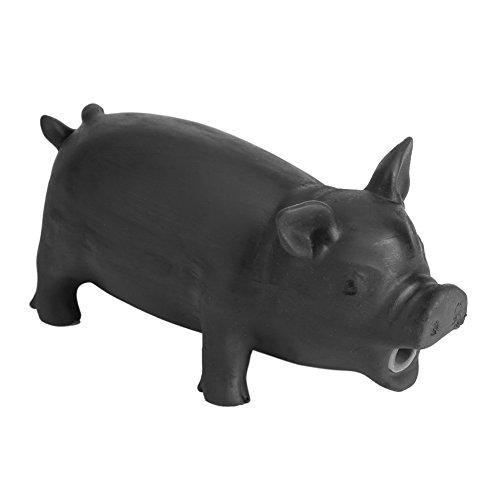 HEEPDD Akustisch Hundespielzeug Schalter Latex Schweinförmige Haustiere Lustige Welpen Klingen Kauen Spielzeug mit realistischen Schwein Grunzen klingen Kinder Spielen Lieferungen (Schwarz L)