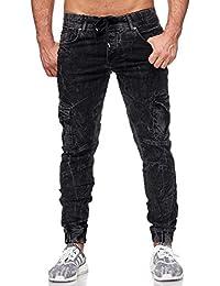 Redbridge Jogpants Jeans Herren Slim Fit Narrow Leg Schwarz M4208