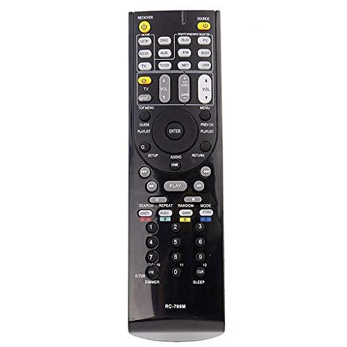 Yantai Ersatz Fernbedienung RC-799M RC799M für Onkyo AV Receiver TX-NR616 TX-NR626 TX-SR309 HT-R548 HT-S5405 HT-R391 HT-R558 HT-R590 HT-R591 HT-S5400 HT-S5500 (Av-receiver-fernbedienung)