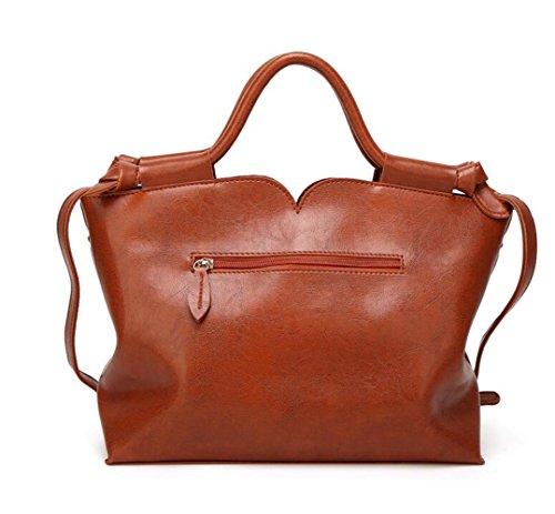 MeiliYH 2020 New Ladies Sacchetto di spalla della signora diagonale della borsa di cuoio dell'unità di elaborazione kaki