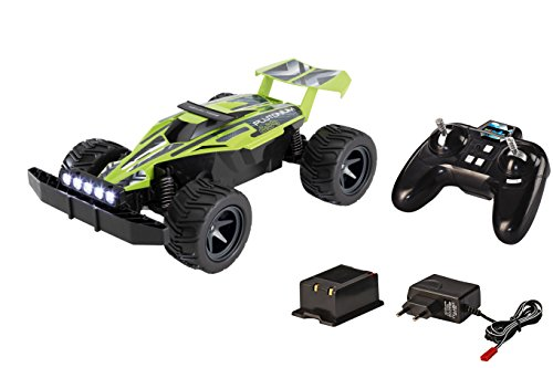 Revell Control X-treme 24813 - RC Car - schnelles, sehr robustes ferngesteuertes Auto als Buggy mit 2.4 GHz Fernsteuerung inklusiv Akku und Ladegerät - PLUTONIUM (Rc Car Speed Control)