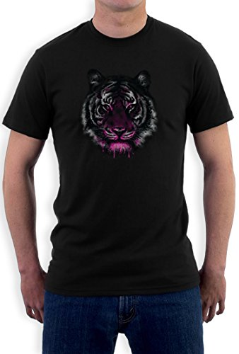 Purple Tiger high Quality very comfortable T-Shirt Schwarz