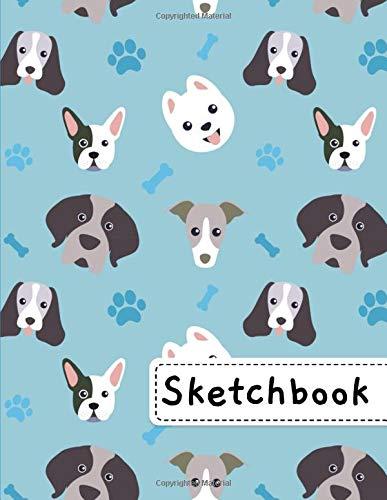 Sketchbook: Cool Little Dogs Sketchbook, 8.5