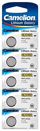 Camelion–Pilas de botón de litio CR1632 / 5 unidades